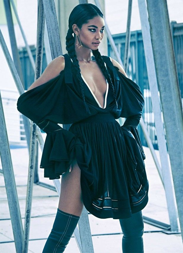 Chanel Iman for Marie Claire UK by James Macari