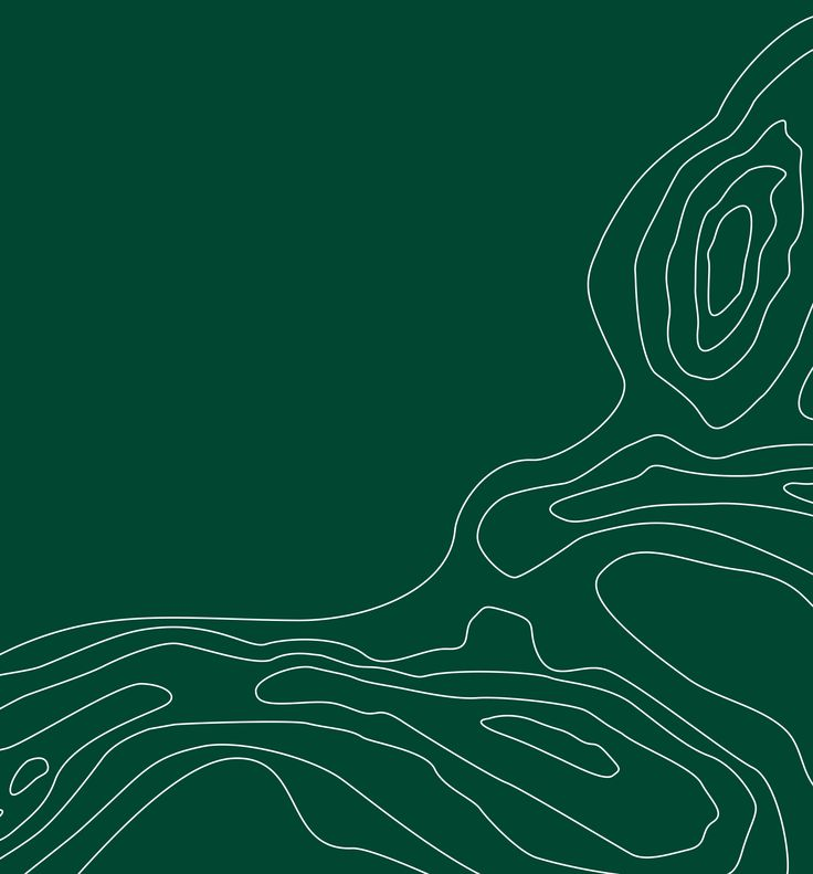 """GRAFISK ELEMENT / De tre """"Odsherred-buer"""" er karakteristiske for landskabet og træder tydeligt frem i et luftfoto. Som grafisk element bruges derfor buerne tegnet som stiliserede koter."""
