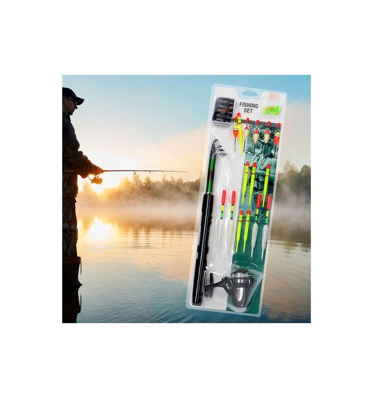 Si vous partez pêcher pour la toute première fois, leset de pêche (19 pièces)est fait pour vous !Canne à pêche télescopique de 1,65 m env.Moulinet de pêche avec 20 m de fil (7 lb   3,2...