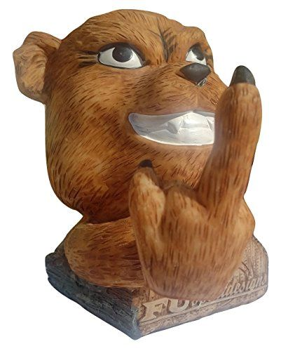 Grizzly Teddy Bear FU Bobble Middle Finger Toy Bobblehead  Cute Bruin Cub Gift *** Want to know more, click on the image.Note:It is affiliate link to Amazon.