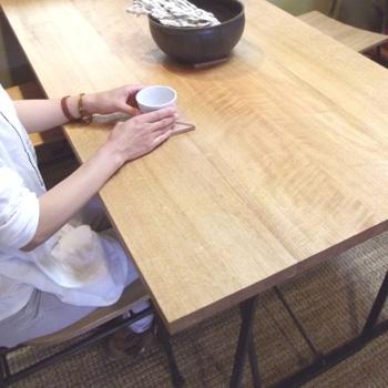 ナラ ダイニングテーブル - 上手工作所オンラインショップ