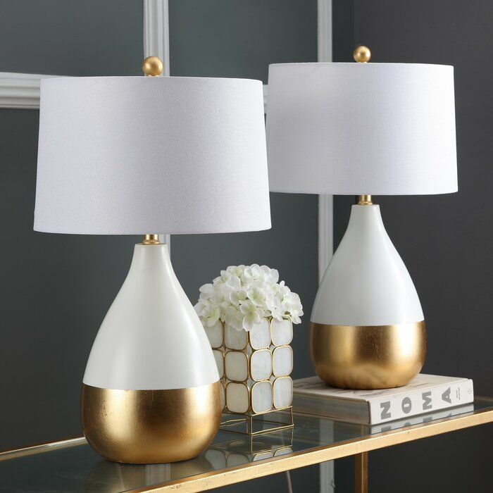 Elser 24 Standard Table Lamp Set In 2021 Table Lamps Living Room White Table Lamp Gold Table Lamp