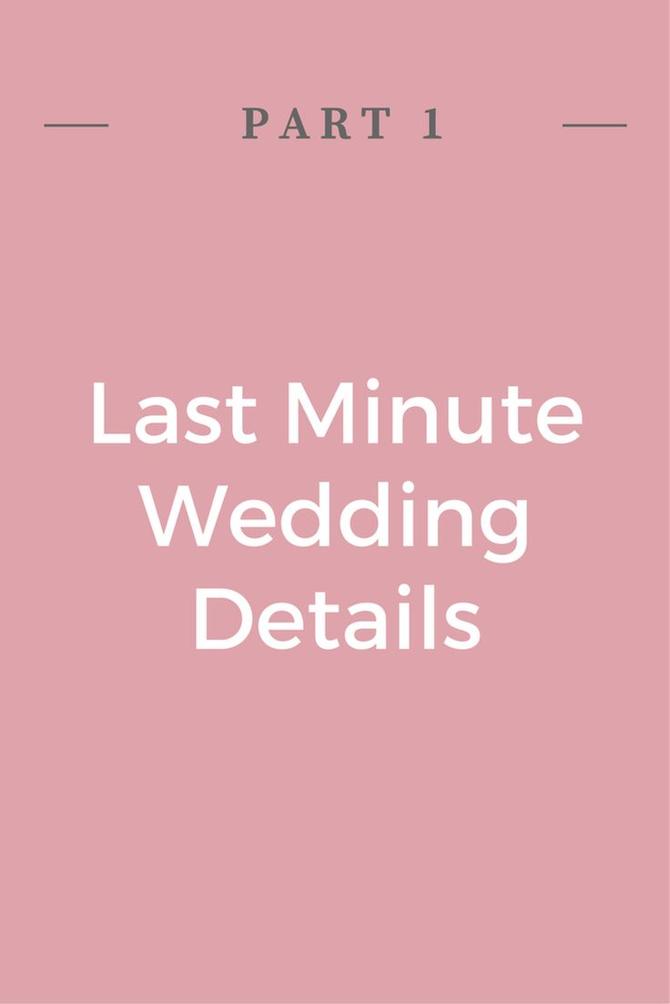 I have created a list to help you keep track of these small last minute details. These questions and tips should help finish off those last few details that you may have forgotten. #weddingplanning #weddingorganization #weddingtips #Lastminuteweddingdetails #weddingdetails