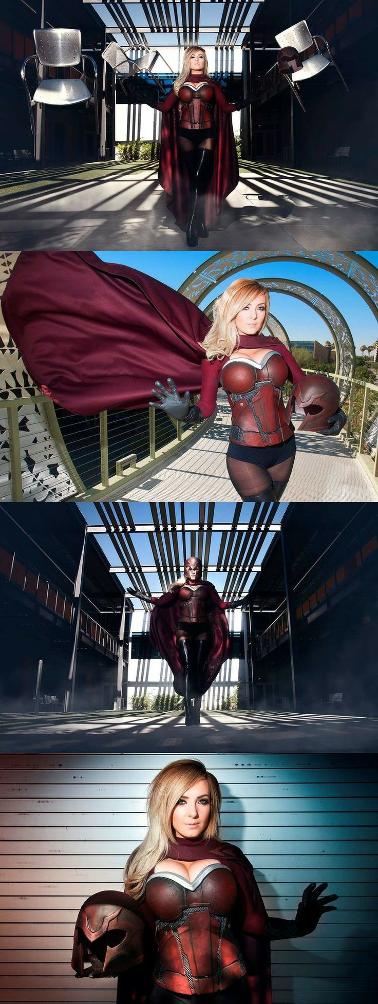 Jessica Nigri as Magneto! I've never seen a Magneto cosplay like this before, and I'm loving it.