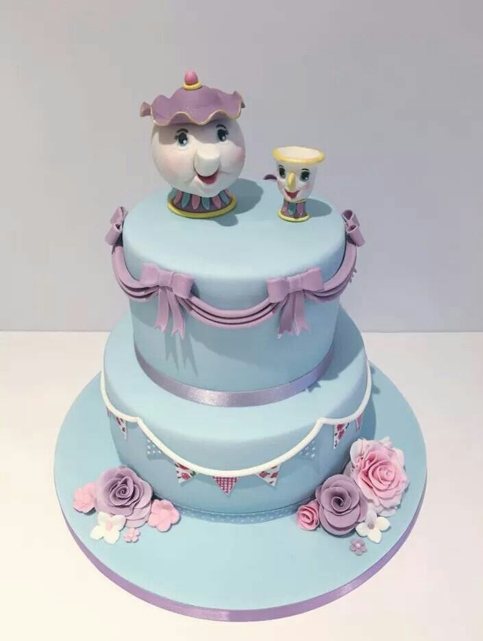 Disney Cake, Beauty and The Beast