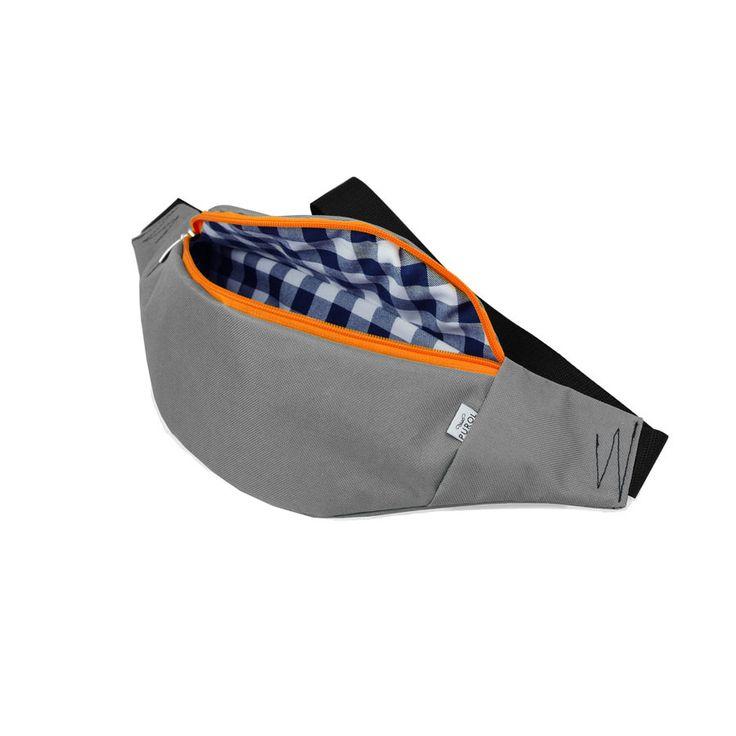 kraciaste wnętrze #nerka #belt #bag #orange