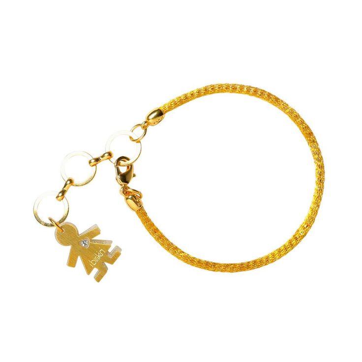 Linea #rainbow by #birikini: bracciale un filo colore oro