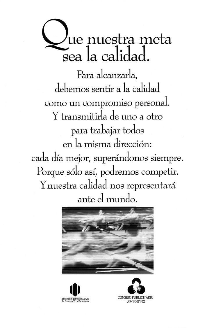 """""""Calidad y Excelencia -Remeros-"""" 1994"""