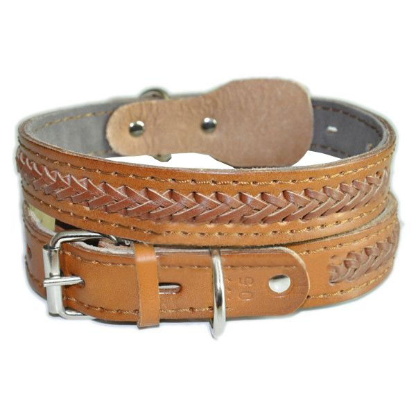 Adjustable Cowhide Dog Collar Pet Supplies Leather Collar