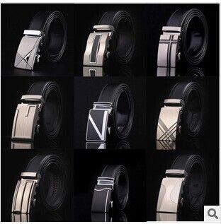 2016 новое прибытие мужчины автоматическая пряжка марка новая мода кожаные ремни для деловых людей высокое качество роскошь для человека