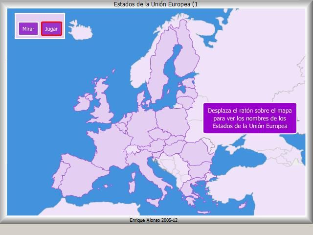 An interactive map in which children put the countries of the EU