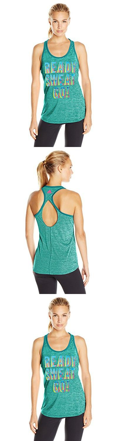 Adidas Womens Ready Sweat Go Graphic Tee, Equipment Green, Small