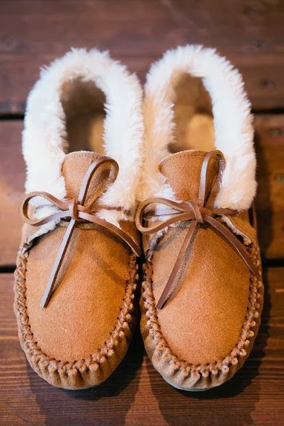 Minnetonka Moccasins - Chrissy Slippers (my favorite shoes in the world)