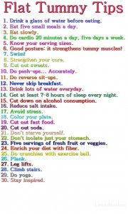 Great ways to flatten your belly…