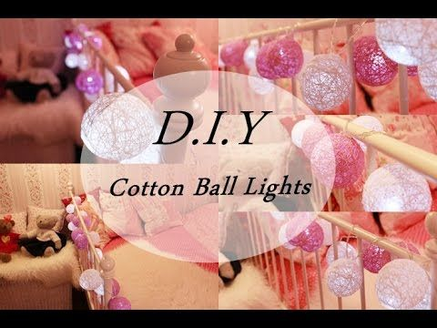 31 best images about diy on pinterest string lights ju ju and pink white nails - Cotton ballspractical ideas ...