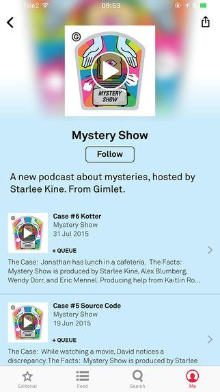 Beautiful mobile UI of Aurora podcasting app.
