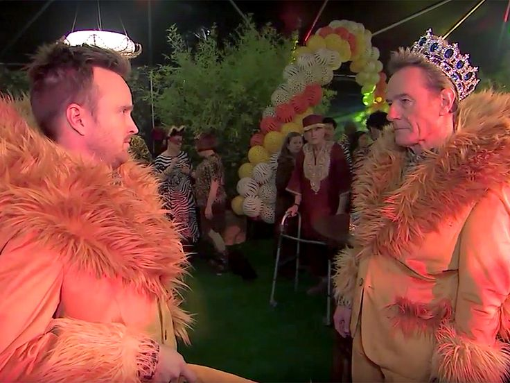 "WATCH: Bryan Cranston Spoofs My Super Sweet 16, Throws a ""Super Sweet 60"" with Lions, Crowns and Aaron Paul http://www.people.com/article/bryan-cranston-jimmy-kimmel-super-sweet-16-parody-video"