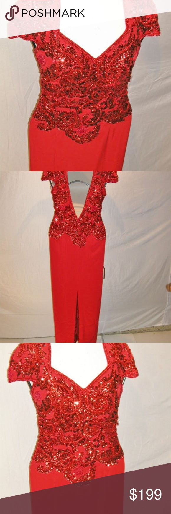 C5 1038 gown, formal, after-five, cocktail, bride, S12... Red... Sold for...530$     Remember price-increase after 7-days!  Regardless of size; a custom fit needs a Seamstress/Tailor. For great online deals... knowing your measurement is key but if not sure, if possible Buy (Slightly) Large. It's easier to alter down, then up. These prices, why not?   Right Out-of-the-Box garments are priced ridiculously low; after price-increase it's rarely reduced further.    Never or may be gently worn…