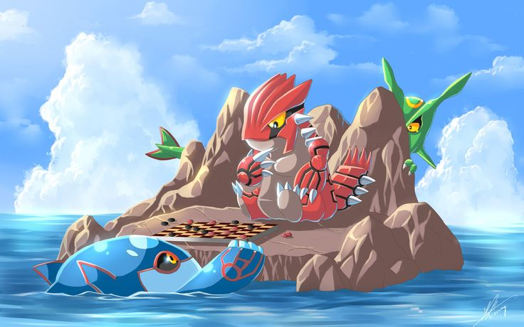 Groudon vs kyogre by r on deviantart rayquaza pok mon fan art - Pictures of groudon and kyogre ...