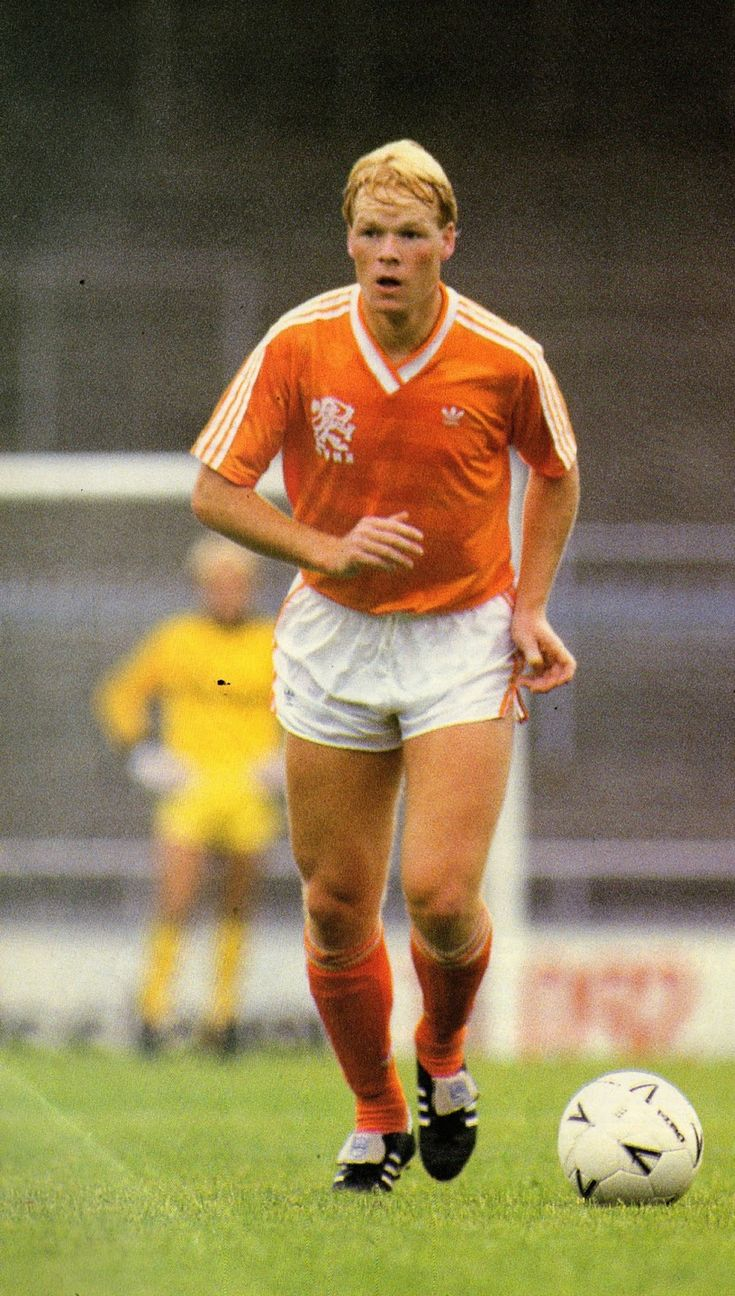Ronald Koeman of Holland in 1988.