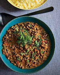 This creamy black-eyed-pea dish relies on assertive African flavors like berbere (an Ethiopian spice mix) and coconut milk.