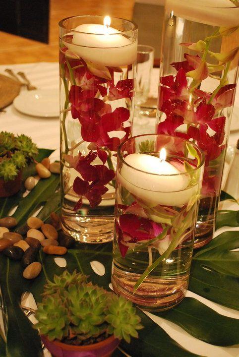 hawaiin centerpiece ideas | Centerpiece 5 | Tropical