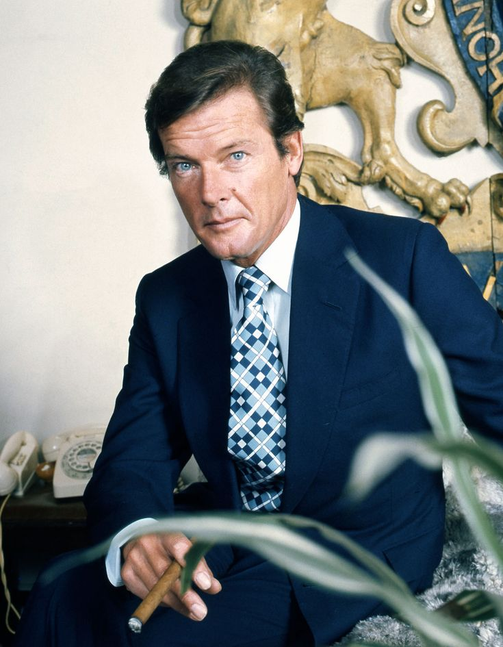 Sir Roger Moore: Oct. 14, 1927 in London  - May 23, 2017 in Switzerland (liver and lung cancer at age 89)