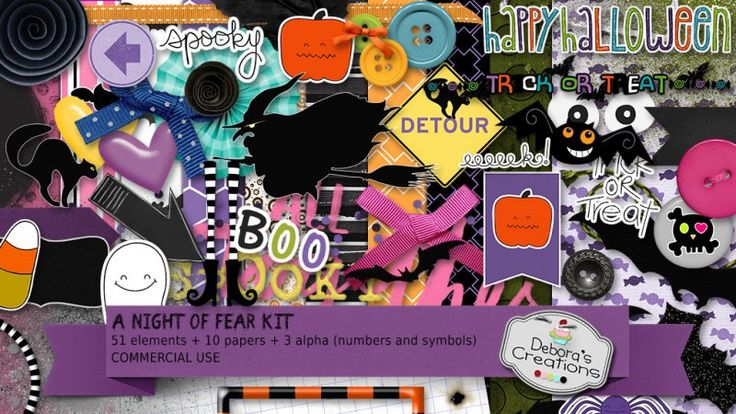 A Night of Fear Kit by Debora's Creations (CU)