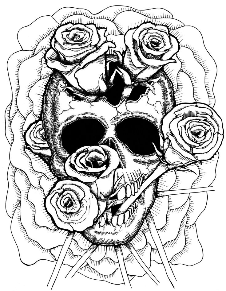 skulls coloring pages - 307 best images about skull day of the dead coloring on