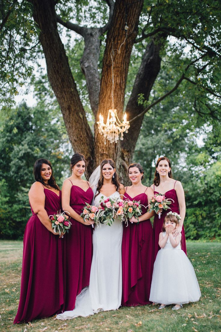 756 best bridesmaid fashion dress styles images on pinterest romantic fall wedding in ipswich ipswich ma romantic bridal party wine colored bridesmaid dresses ombrellifo Image collections
