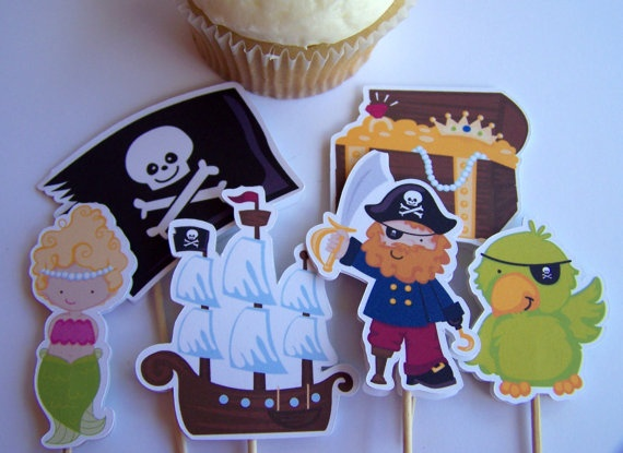 Yo Ho Pirate Party  Set of 12 Treasure Chest by TheBirthdayHouse, $6.00