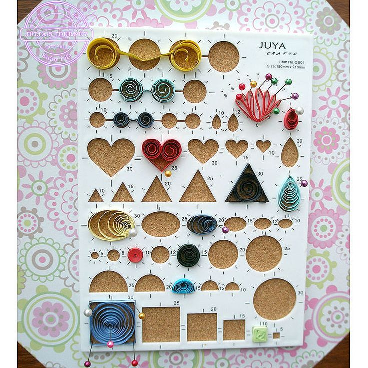New Arrival 2 in 1 Quilling Paper Workboard, Quilling Design Pattern Board With Straight Pin, Rolling Paper Art Crafts(China (Mainland))