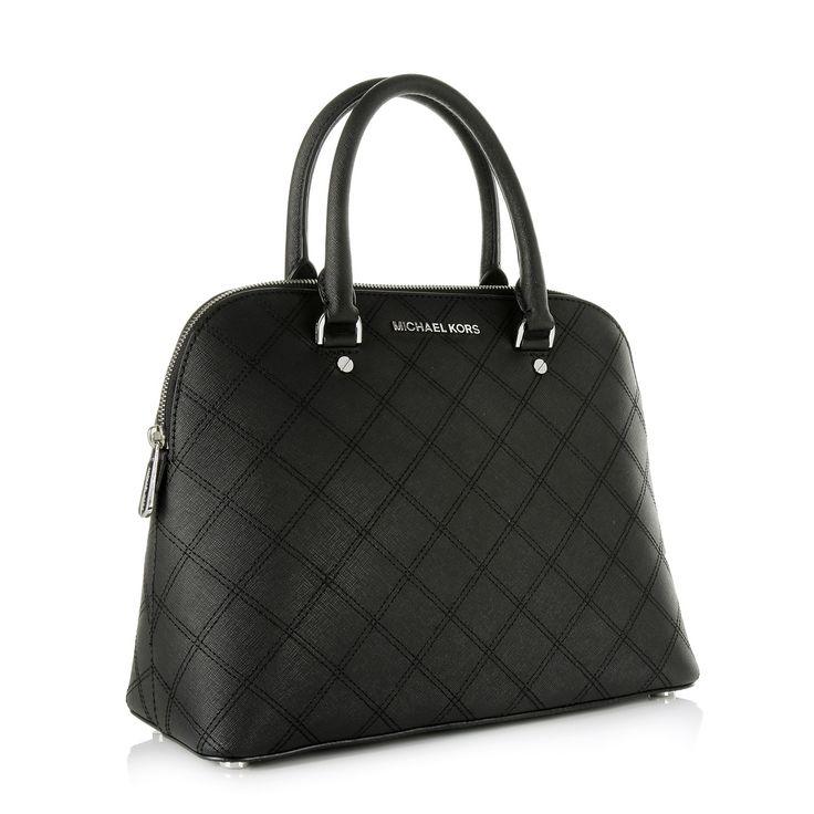 Michael Kors Cindy LG Dome Satchel Black su Fashionette