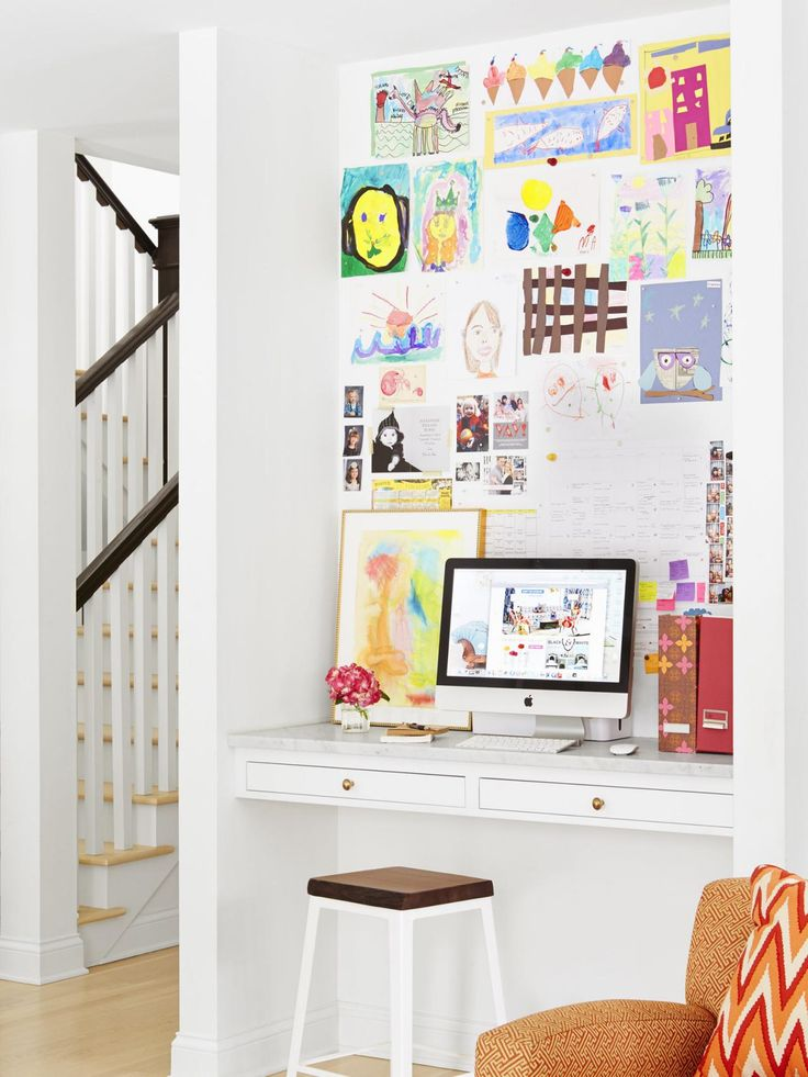A White And Bright House Tour Study OfficeOffice NookOffice