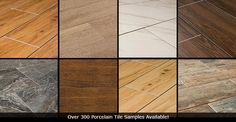 Comparisons of pros/cons of different types of flooring