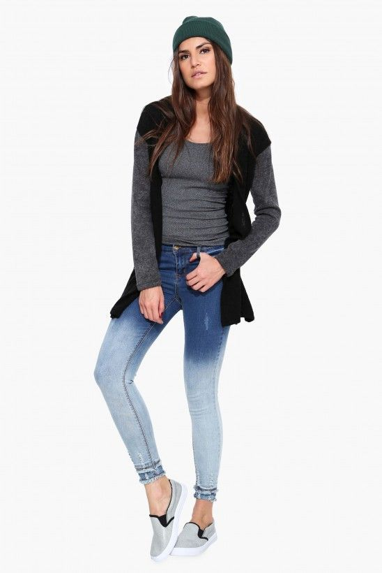 My Favorite Ombre Skinny Jean in Blue | Necessary Clothing