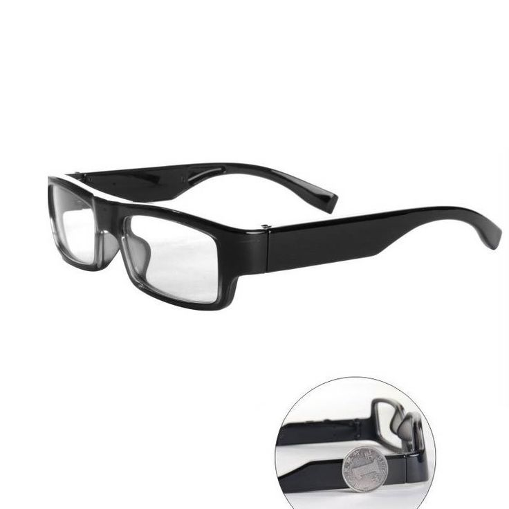 """Don't miss a thing with these covert spy camera glasses! When you see an ordinary pair of glasses recording someone in a spy movie you probably think """"This can't possibly be real!""""å But the truth is body worn cameras have been out for decades now and their design has been perfected. That's why we were able to take a pair of normal looking eyeglasses and attach a hidden high definition spy camera along with 8 GB of DVR space! With their ultra-thin design nobody will think they're anything…"""
