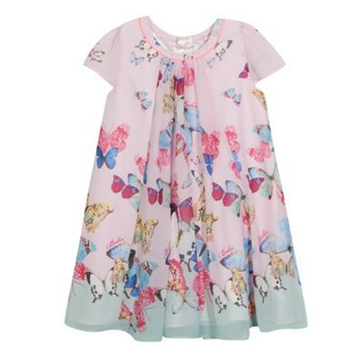 Baker by Ted Baker Girl's pink butterfly print dress- at Debenhams.ie