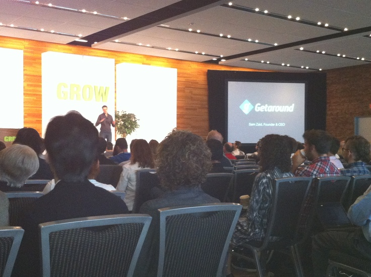 Disruption: Embracing the Sharing Economy - Sam Zaid, Founder & CEO Getaround speaking at Grow2012