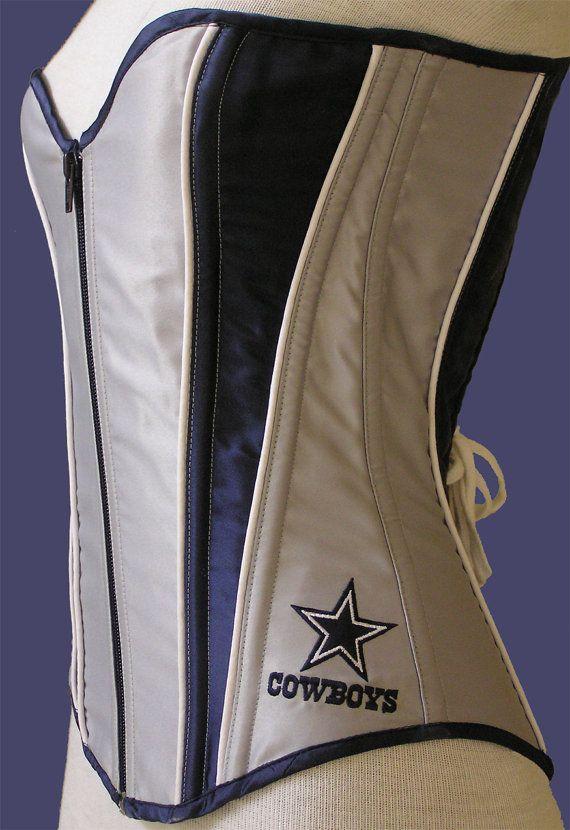 Dallas Cowboys Inspired Silver And Blue Satin Corset