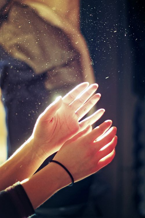hands, light, and hand image