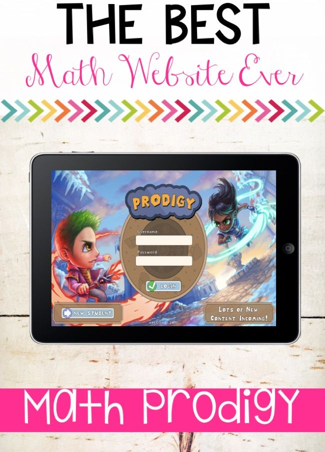 The Best Math Website EVER! Check out this blog post to hear all about this interactive math game website that will motivate your students!