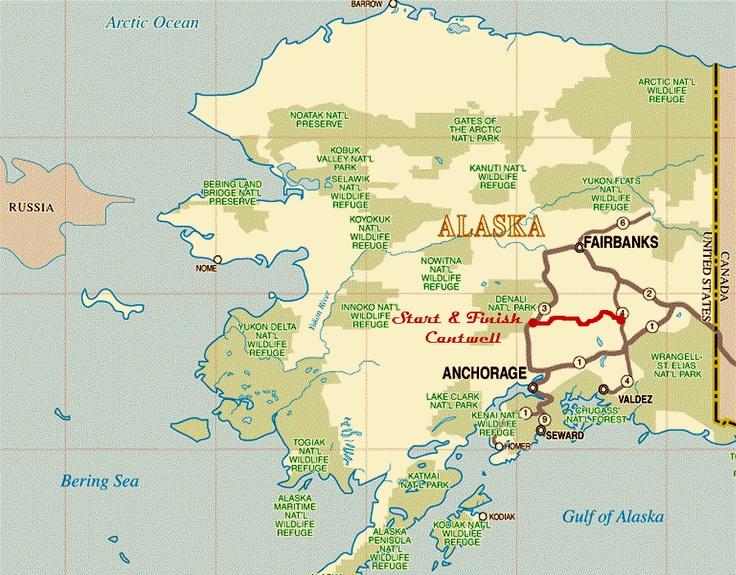 Denali Highway Alaska Route Map Wide Pinterest Alaska - Mount mckinley on us map