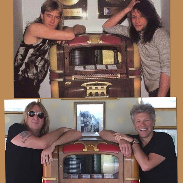 Joe Elliott and Jon Bon Jovi