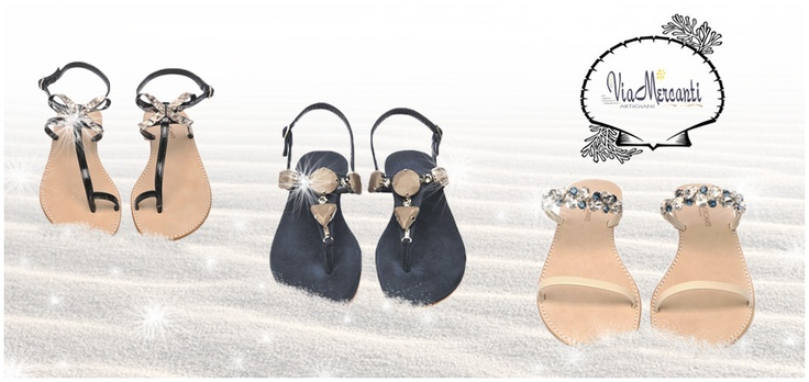 Via Mercanti: dettagli preziosi per scarpe gioiello  http://www.fourstrokegroup.com/s/infradito-in-camoscio/4395
