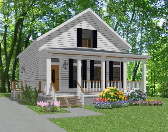 images about Cottages  amp  Small houses on Pinterest   Little    Small Beach Cottage Floor Plans   Plan Amelia  Stock House Plan