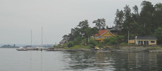 Hyttestemning ved Høyerholmen i Bærum