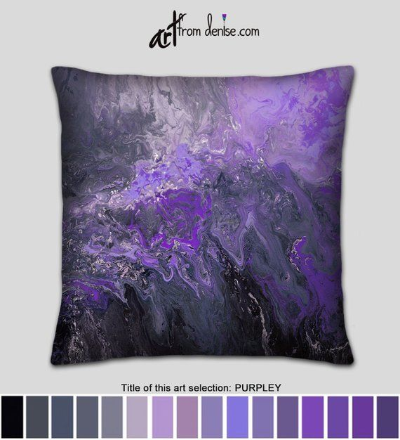 Gray Black And Purple Throw Pillows For Bed Decor Accent