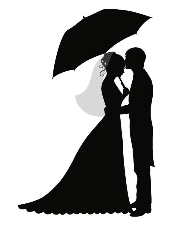 Силуэт жениха и невесты для открытки, казахская