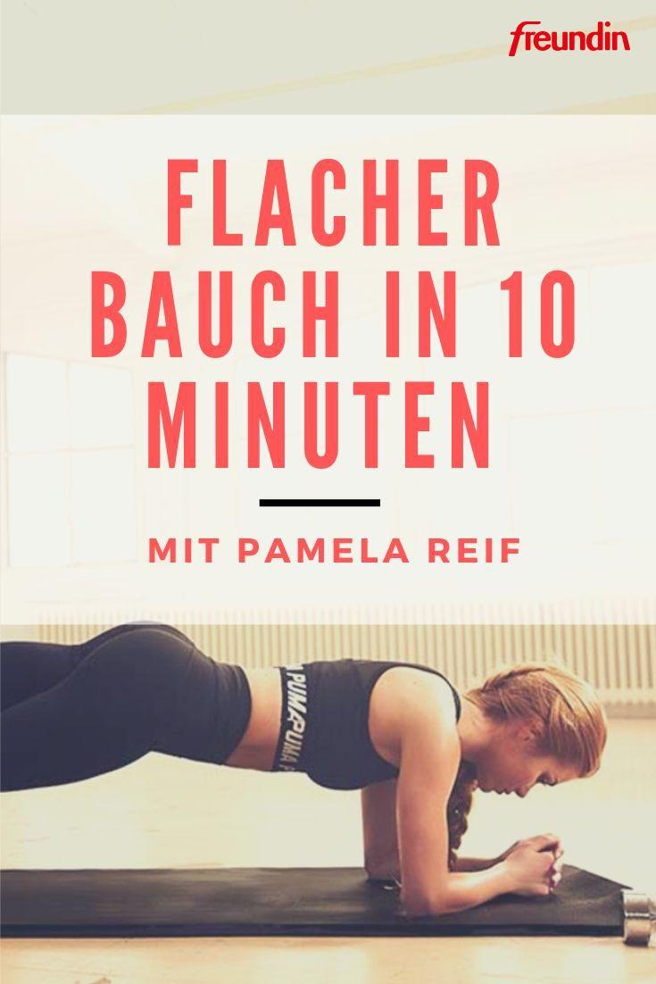 Flacher Bauch in 10 Minuten mit Pamela Reif